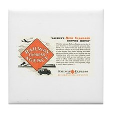 Railway Express Agency 1948 Tile Coaster