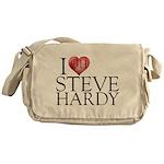 I Heart Steve Hardy Canvas Messenger Bag