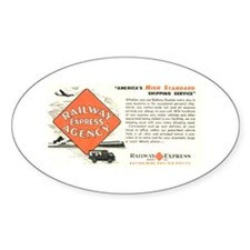 Railway Express Agency 1948 Oval Decal