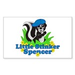 Little Stinker Spencer Sticker (Rectangle)