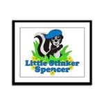 Little Stinker Spencer Framed Panel Print