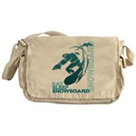 Eat Sleep Snowboard Canvas Messenger Bag