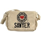 I Heart Sawyer - LOST Canvas Messenger Bag