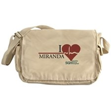 I Heart Miranda Canvas Messenger Bag