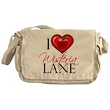 I Heart Wisteria Lane Canvas Messenger Bag