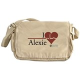 I Heart Alexie - Grey's Anato Canvas Messenger Bag