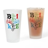 Four Bikes Drinking Glass