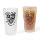 Valentine Heart Gears Drinking Glass