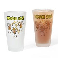 Trombone Rocks Drinking Glass