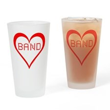 Band Hearts Drinking Glass