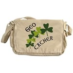 Geocacher Shamrocks Messenger Bag