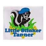 Little Stinker Tanner Throw Blanket