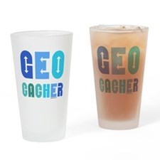 Geocacher Arrows Blue Drinking Glass