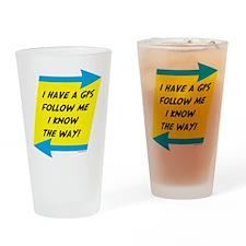 Follow me Drinking Glass
