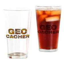 Geocacher Bricks Drinking Glass