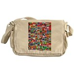 Parade of Nations Canvas Messenger Bag