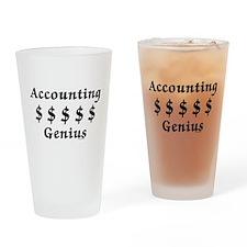 Accounting Genius Drinking Glass