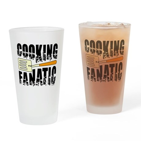 Cooking Fanatic Drinking Glass