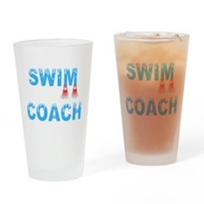 Swim Coach Blue Drinking Glass