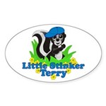 Little Stinker Terry Sticker (Oval)