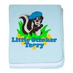 Little Stinker Terry baby blanket
