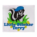 Little Stinker Terry Throw Blanket
