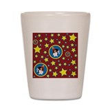 Wilbur the Circus Basset Shot Glass