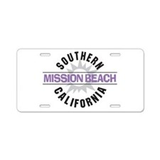 Mission Beach Aluminum License Plate