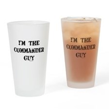 Commander Guy Drinking Glass
