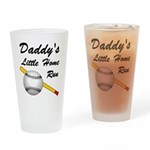Dad's Home Run Drinking Glass