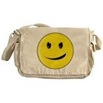 Smiley Face - Evil Grin Canvas Messenger Bag