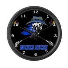 Wicked Sticks Large Wall Clock