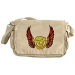 Red Winged 45 RPM Adap Canvas Messenger Bag
