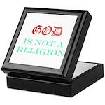God Is NOT A Religion Keepsake Box