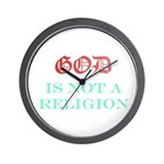 God Is NOT A Religion Wall Clock