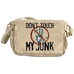 Don't Touch My Junk Canvas Messenger Bag
