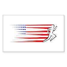 Athletics Runner - USA Decal
