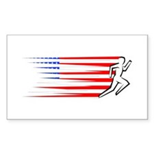 Athletics Runner - USA Decal