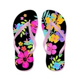 Tropical Flowers Flip Flops