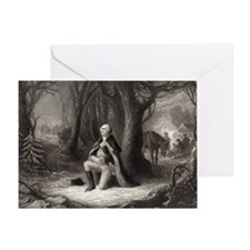George Washington Praying greeting card