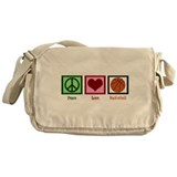 Peace Love Basketball Messenger Bag