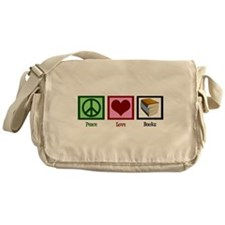 Peace Love Books Messenger Bag