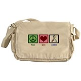 Peace Love Autism Messenger Bag