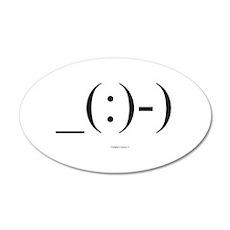 Suba Diver Emoticon 38.5 x 24.5 Oval Wall Peel