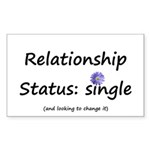 Single Status Sticker (Rectangle)