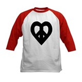Heart Shaped Peace Black Tee