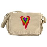 Flaming Heart Messenger Bag