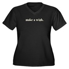 make a wish. (Words To Live B Women's Plus Size V-