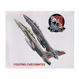 VF-211 Checkmates Throw Blanket