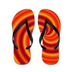 Orange Red Swirl Flip Flops